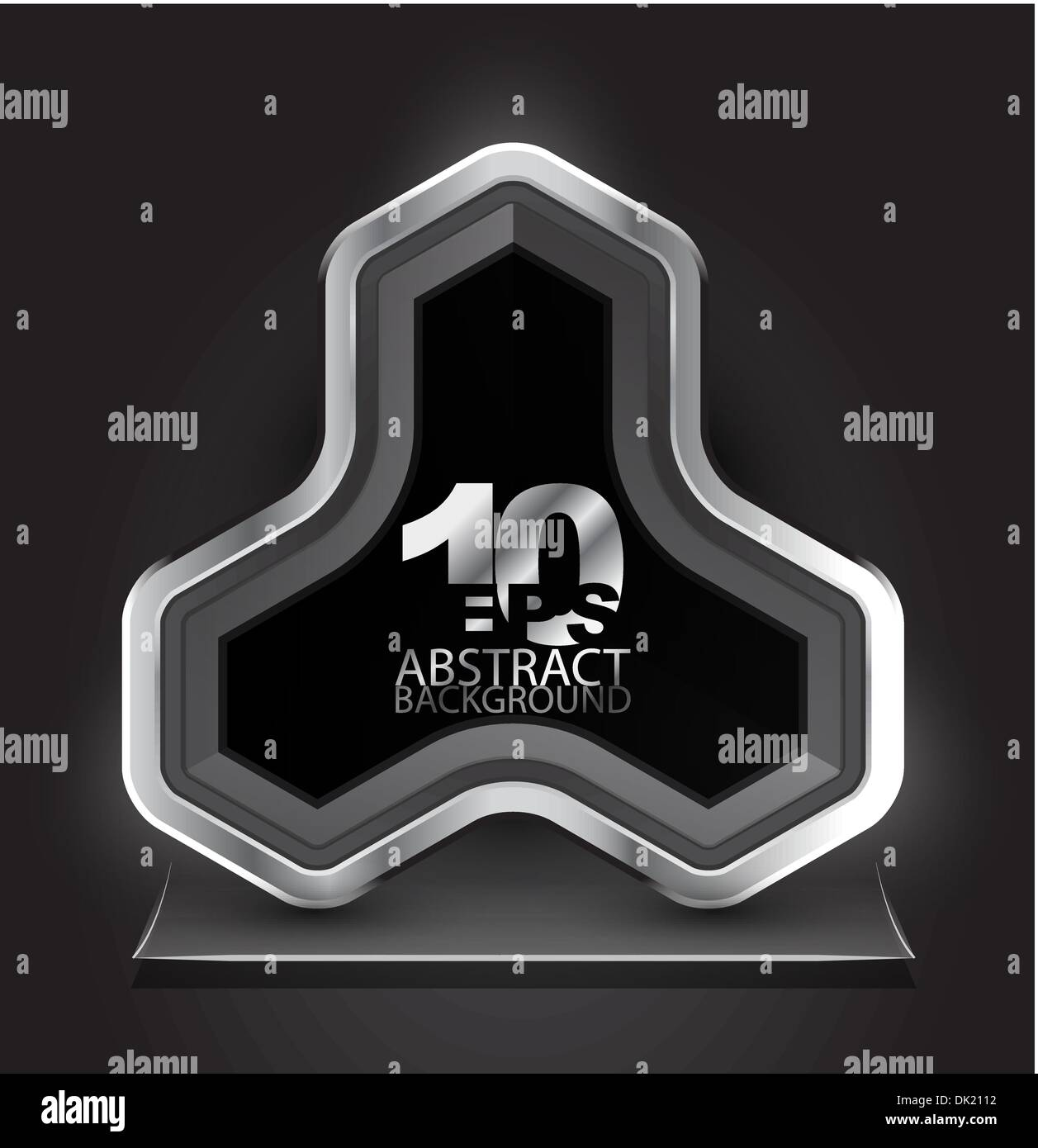 Vector abstract illustration with metal modern abstract sign and place for your text Stock Vector