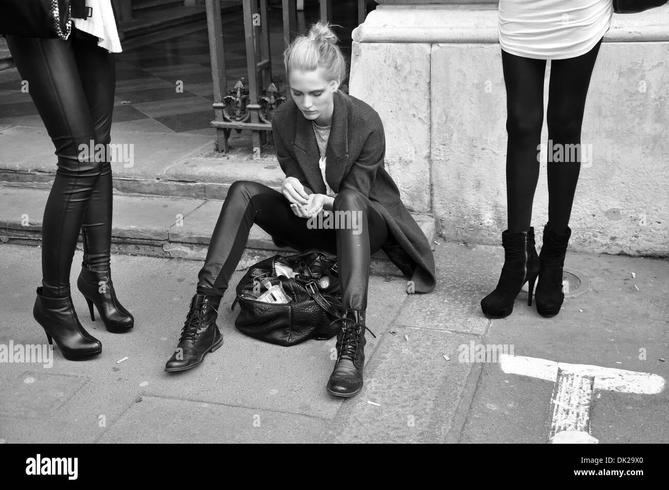 Models waiting - Stock Image