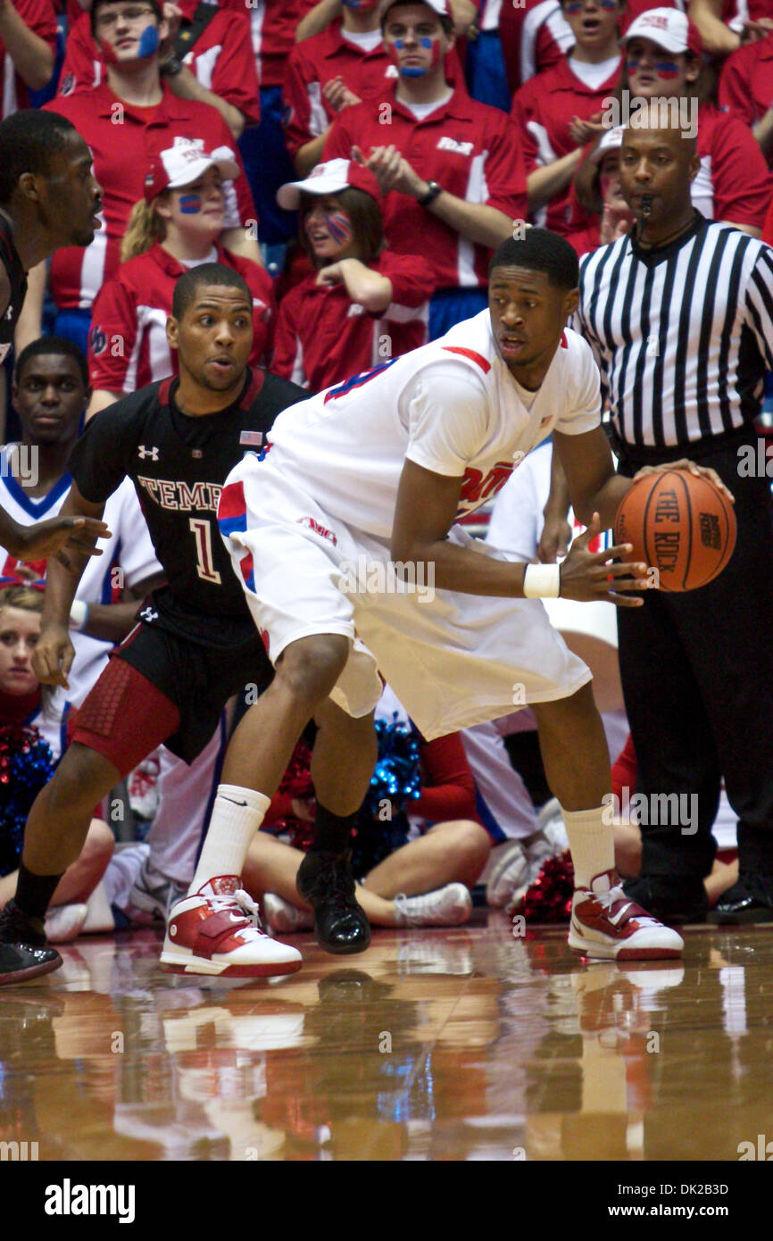 feb. 12, 2011 - dayton, ohio, u.s.a - temple owls guard khalif wyatt