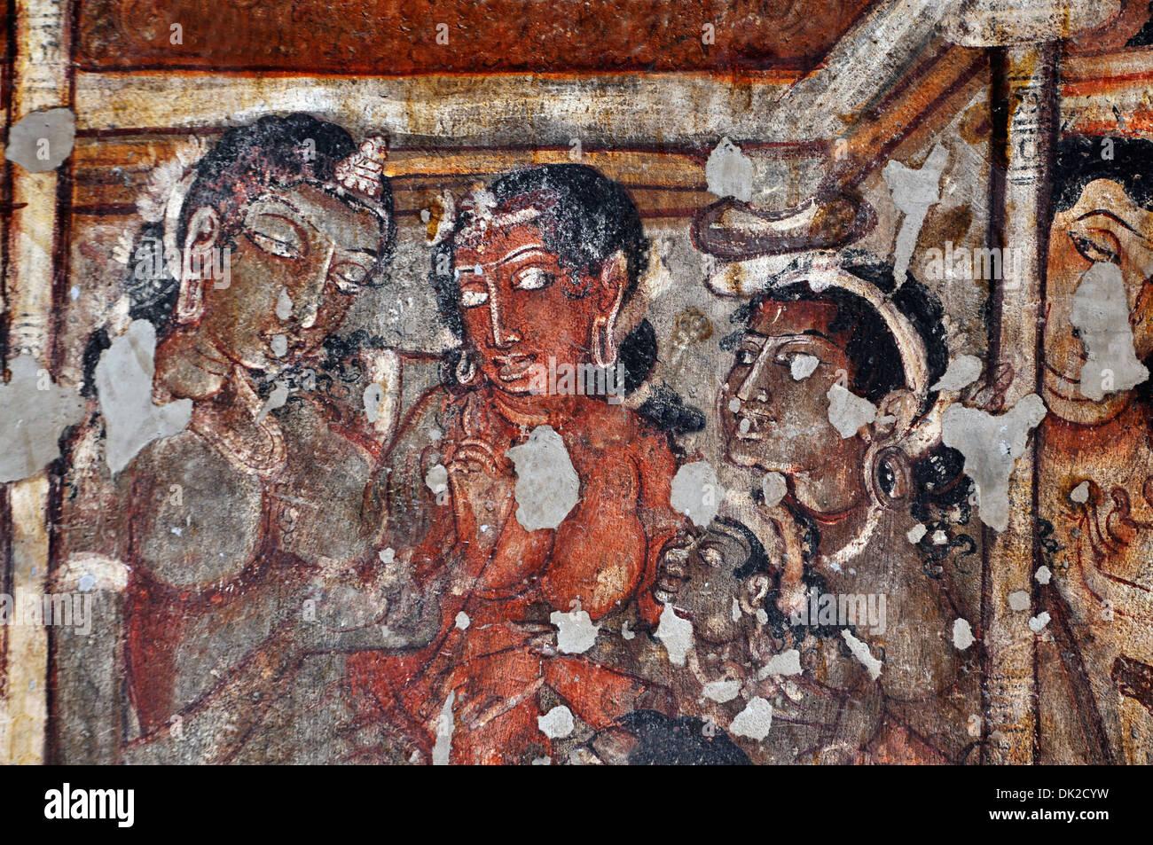 Ajanta Caves Painting Stock Photos Ajanta Caves Painting