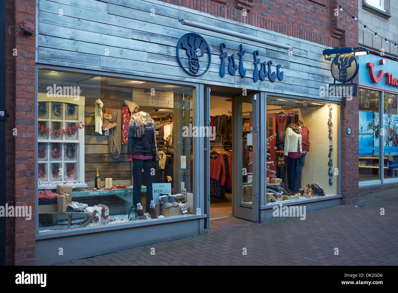 Fat Face shop front in Carlisle city centre UK - Stock Image