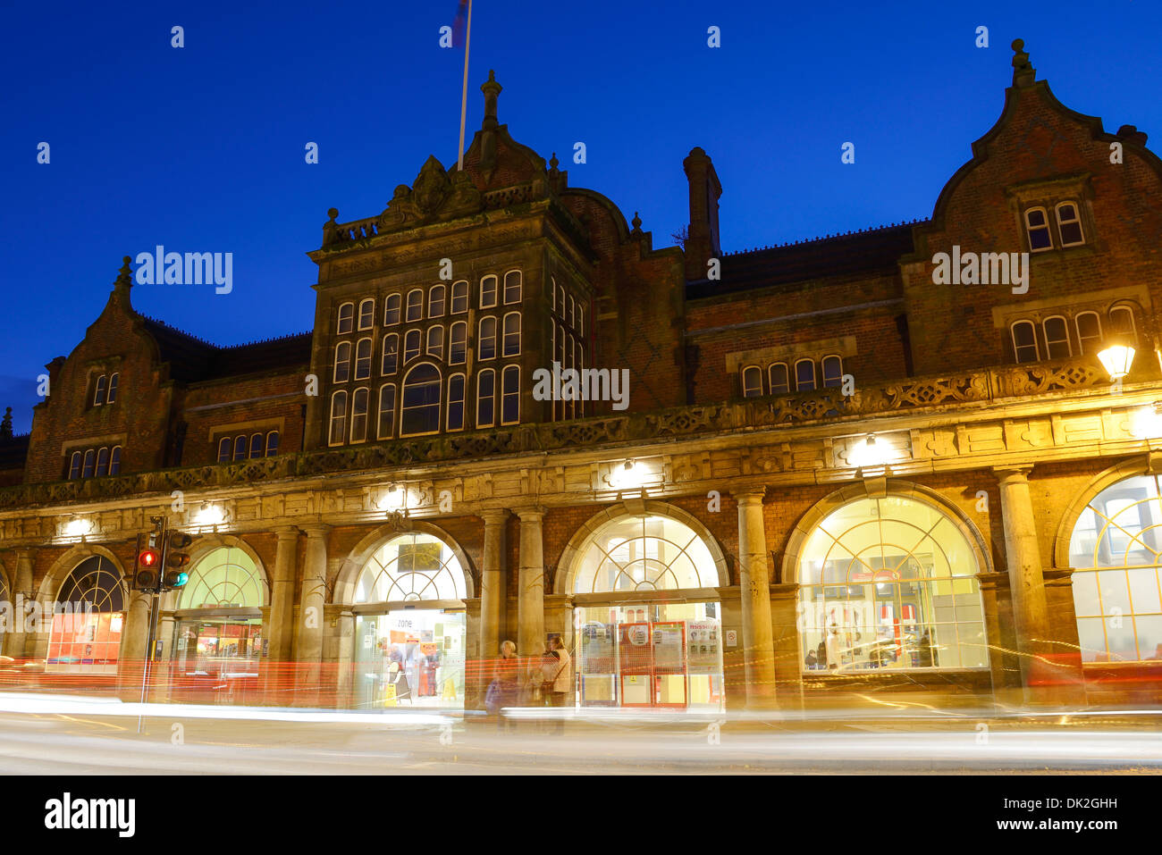 The railway station building in Stoke on Trent - Stock Image