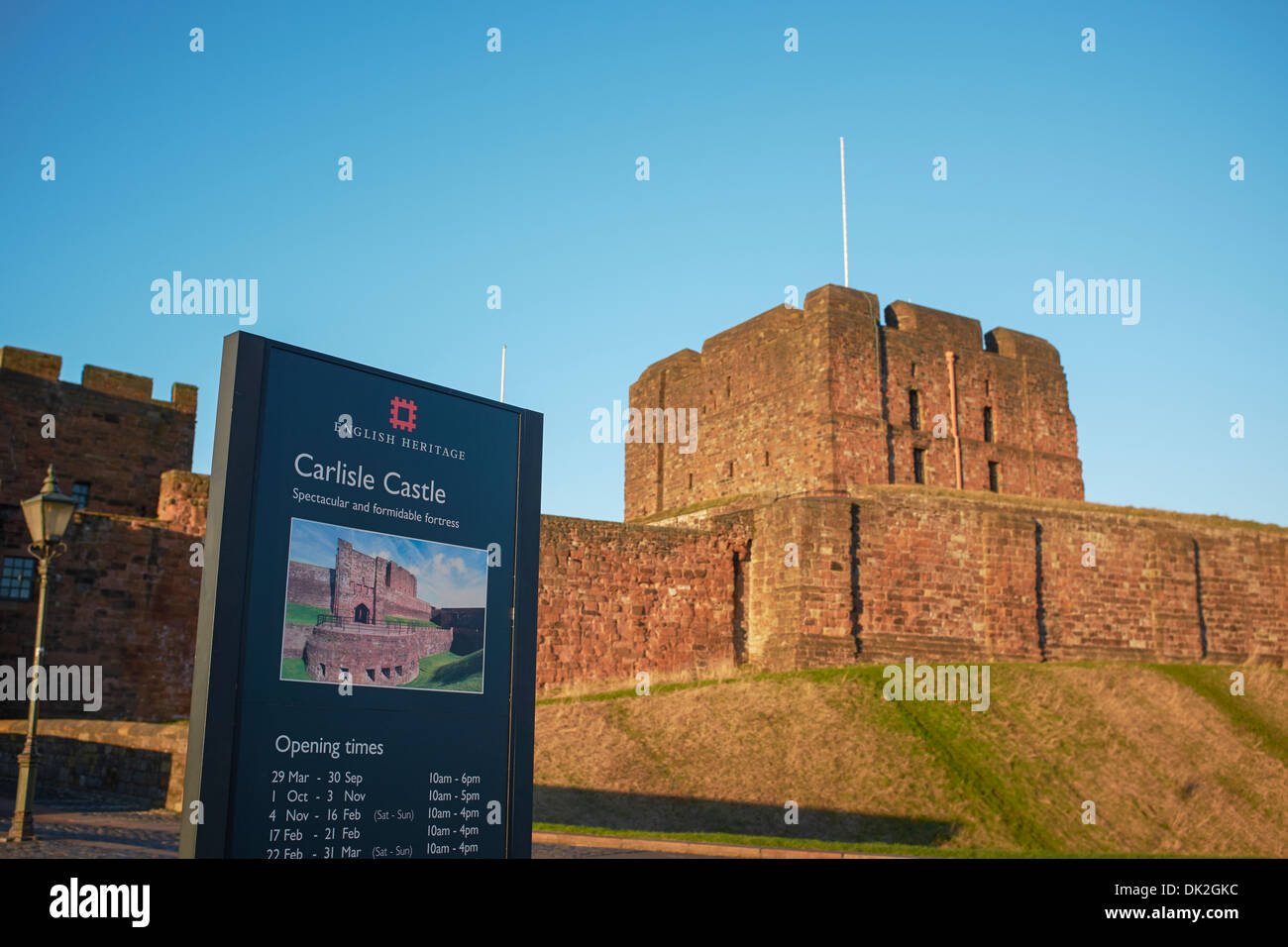 The Castle in Carlisle city centre - Stock Image