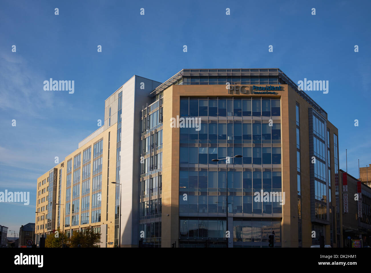Provident Financial Group office building in Bradford city centre - Stock Image