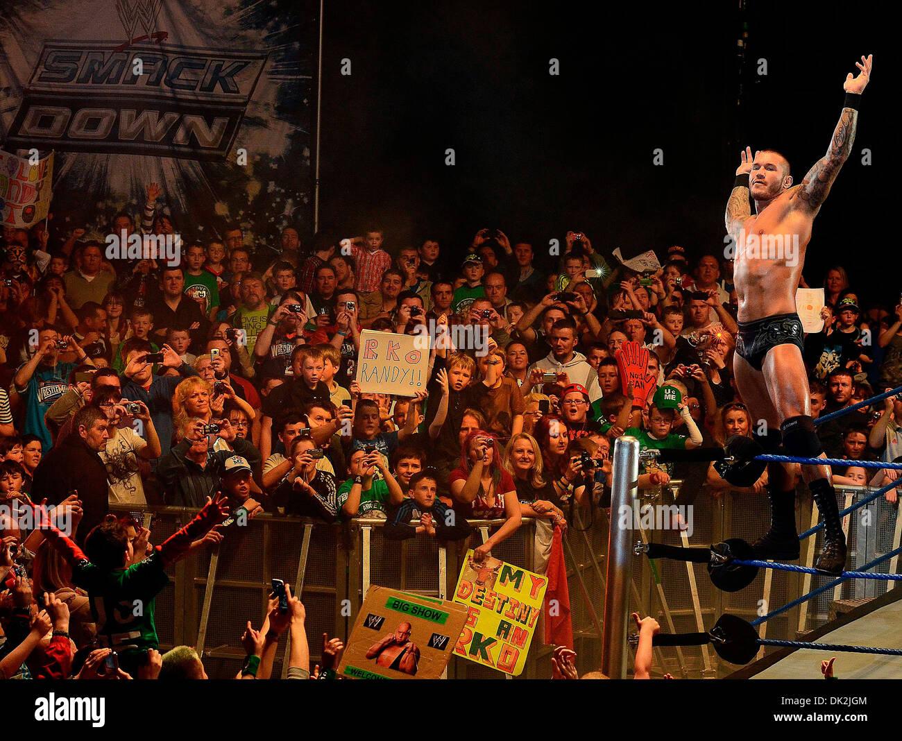 Randy Orton WWE Smack Down at the O2 Arena Dublin, Ireland - 12.04.12. Stock Photo