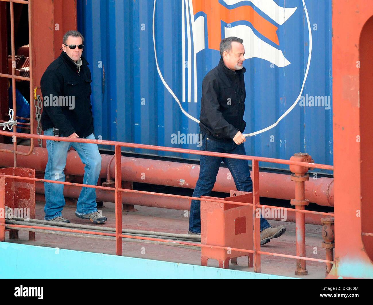 Tom Hanks on the set of 'Captain Phillips' Malta - 18.04.12 - Stock Image