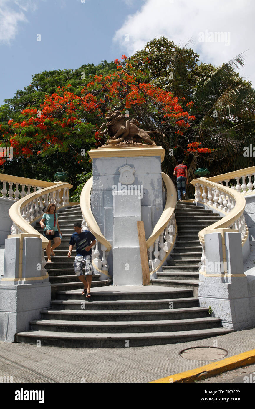 Staircases the downtown, Fortaleza, Brazil. - Stock Image
