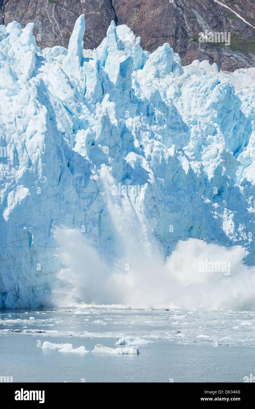 Ice calving,Glacier Bay, Alaska - Stock Image