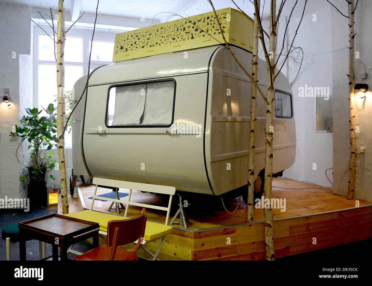 d8b4ddf645 The camping van  Little sister  is pictured in the hotel  Huettenpalast)  (lit hut palace) in Berlin