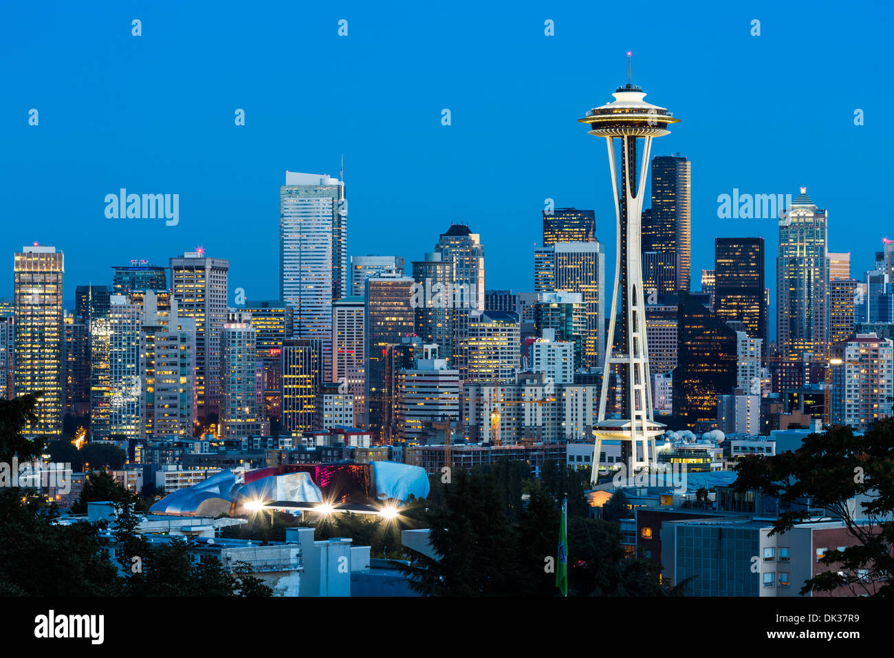 Skyline, Seattle Washington - Stock Image
