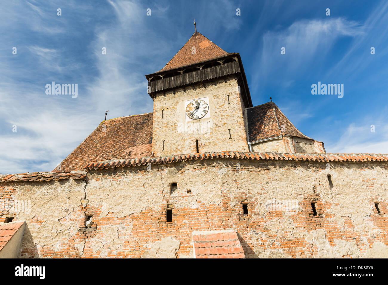 Fortified church of Axente Sever, Transylvania Romania - Stock Image