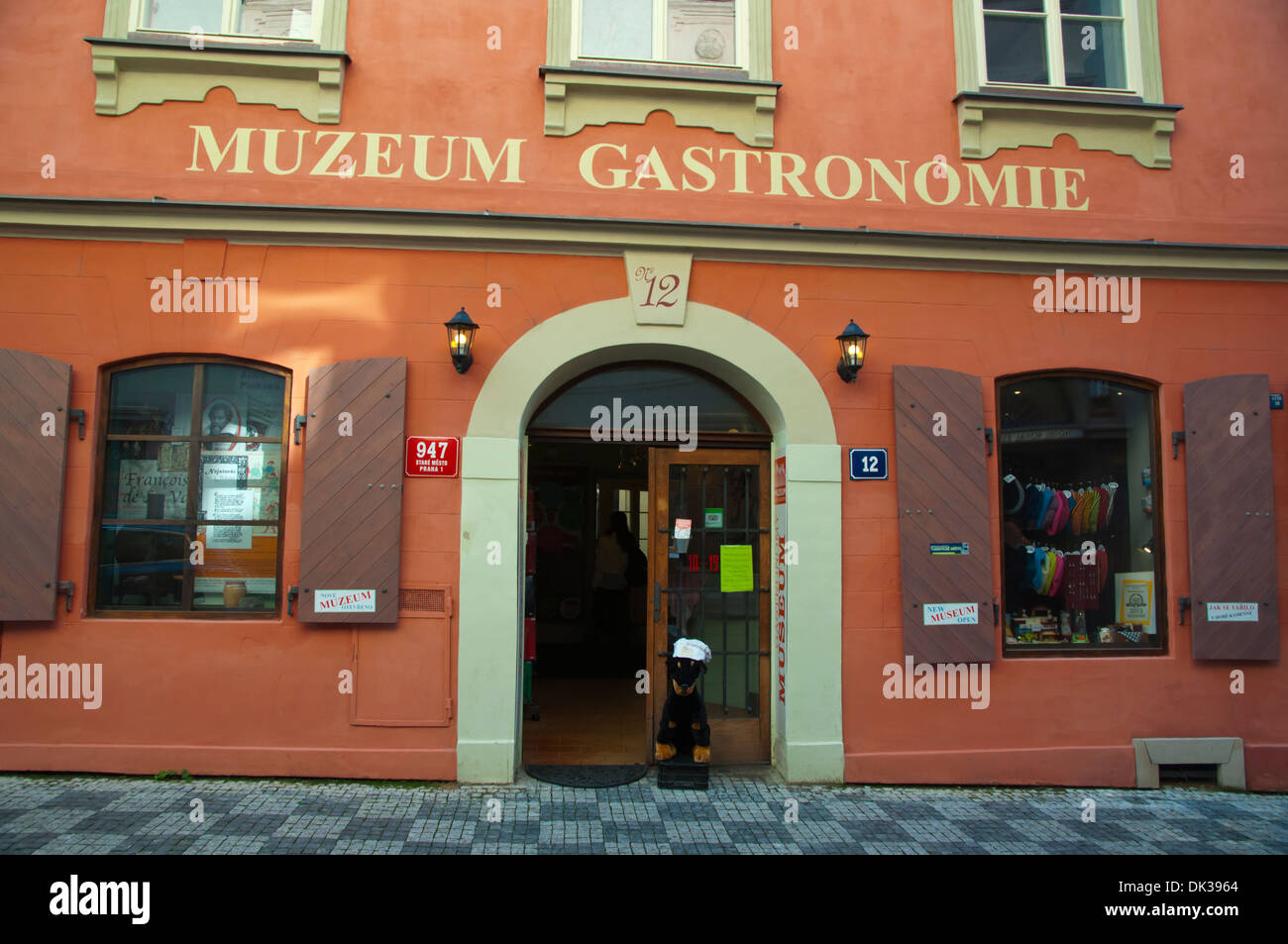 Muzeum Gastronomie the Gastronomyl museum old town Prague Czech Republic Europe - Stock Image