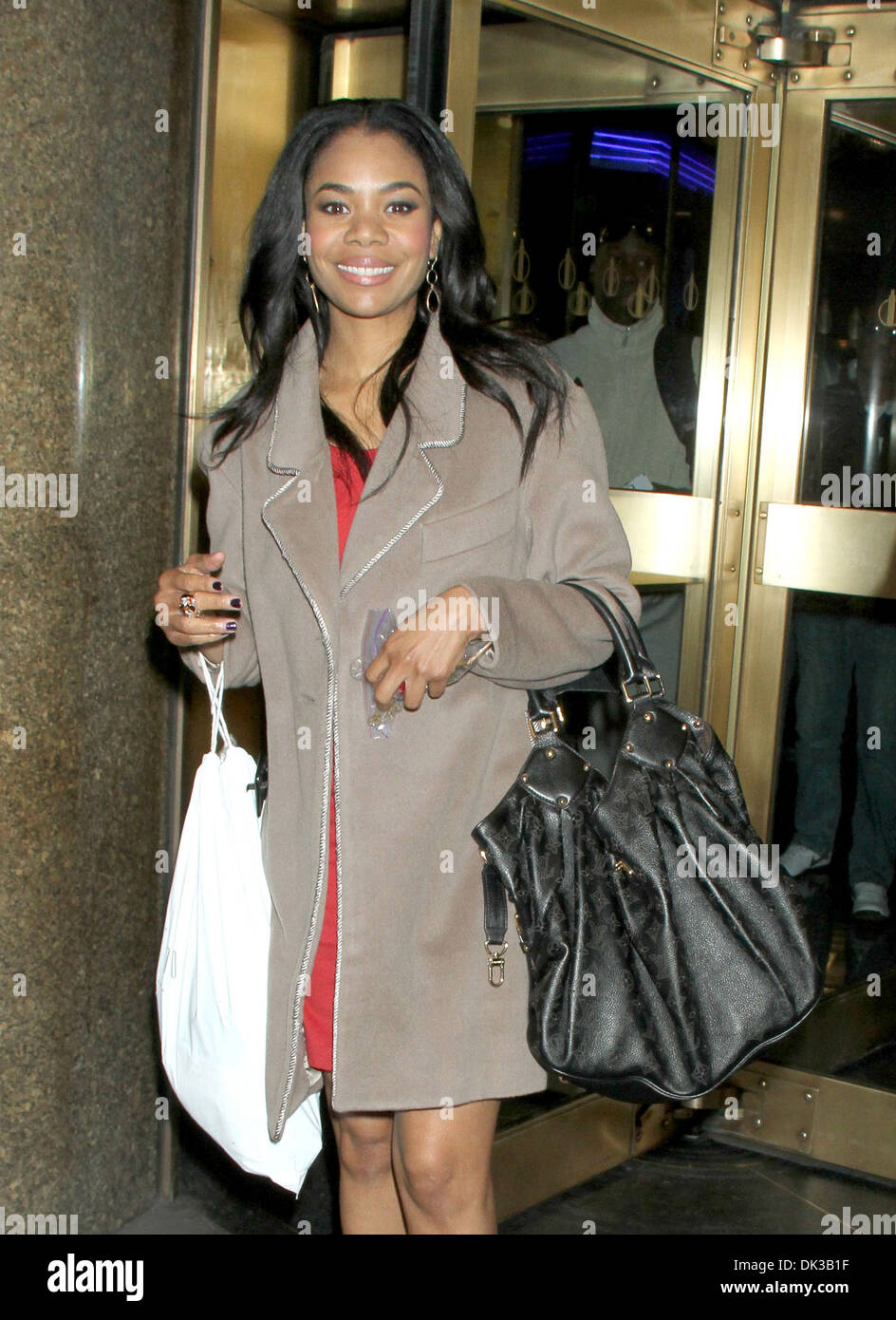 Regina Hall Celebrities Arrive At Studio To Appear On New York