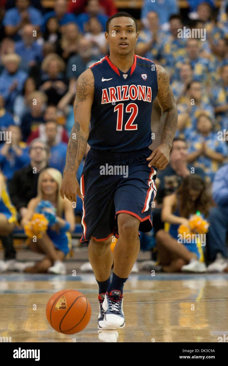 081625fb374 26, 2011 - Westwood, California, U.S - Arizona Wildcats guard Lamont Jones # 12 in action during the NCAA basketball game between the Arizona Wildcats  and ...
