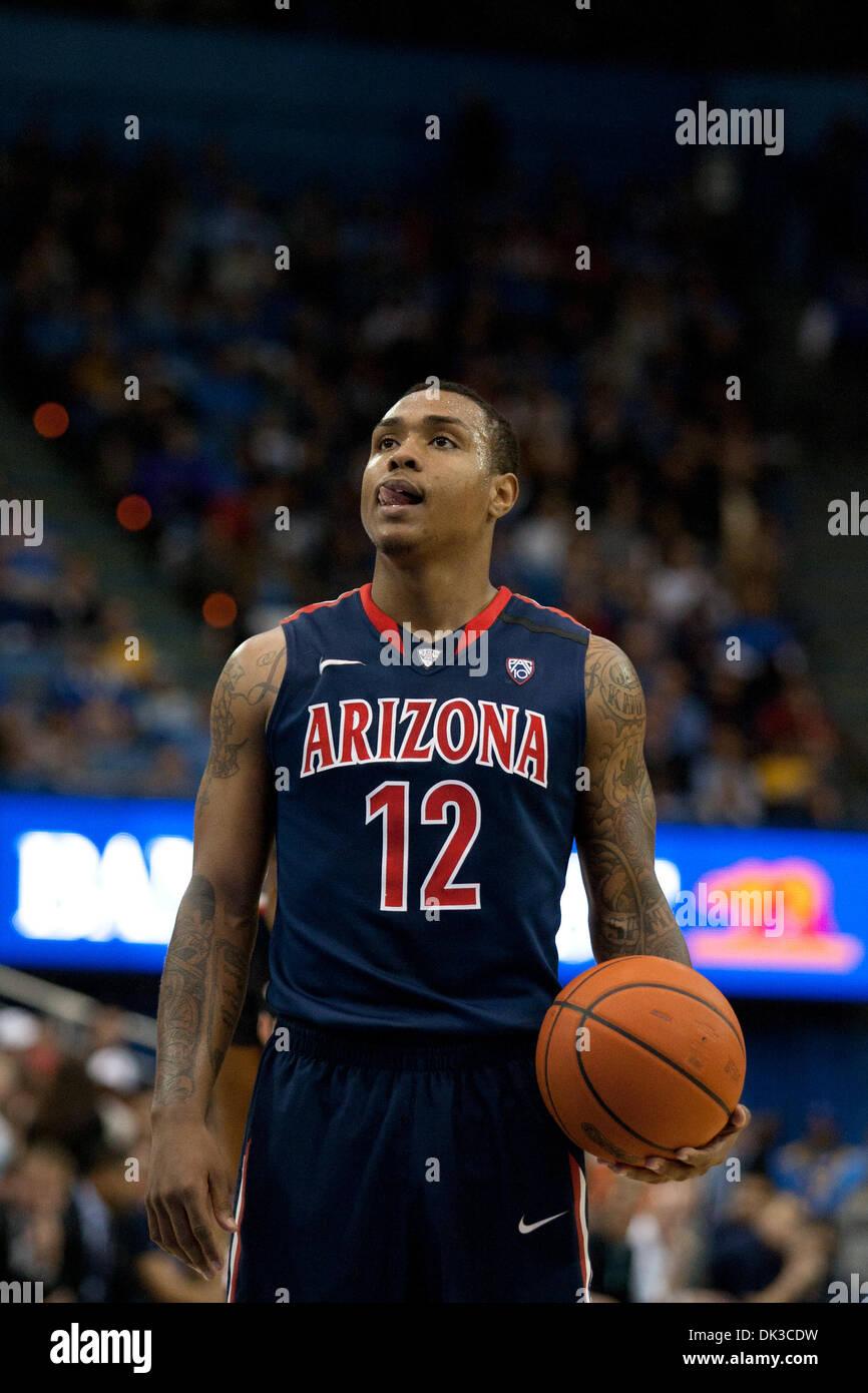 b87efb73497 26, 2011 - Westwood, California, U.S - Arizona Wildcats guard Lamont Jones # 12 during the NCAA basketball game between the Arizona Wildcats and the  UCLA ...
