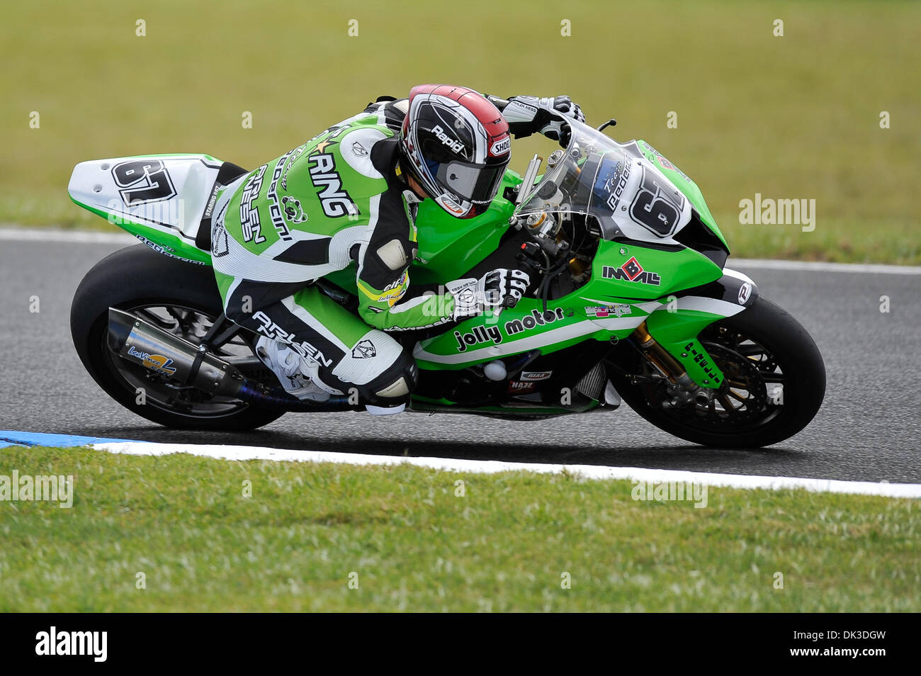 Feb. 27, 2011 - Phillip Island, Victoria, Australia - Bryan Staring (AUS) riding the Kawasaki ZX-10R (67) of the Stock Photo