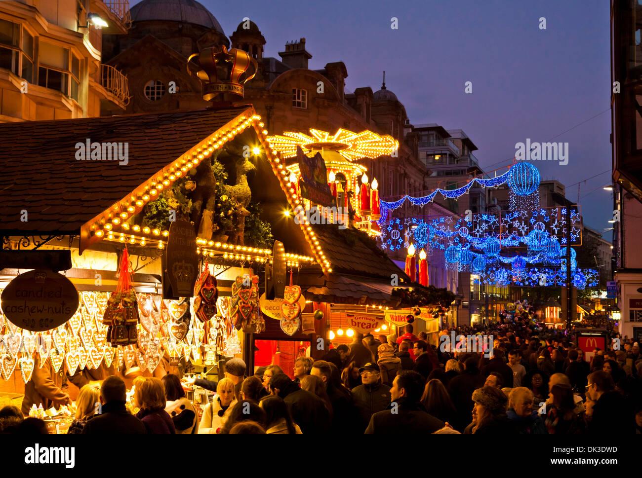 birmingham christmas market also known as birmingham frankfurt christmas market birmingham west midlands england stock - Birmingham Christmas Market