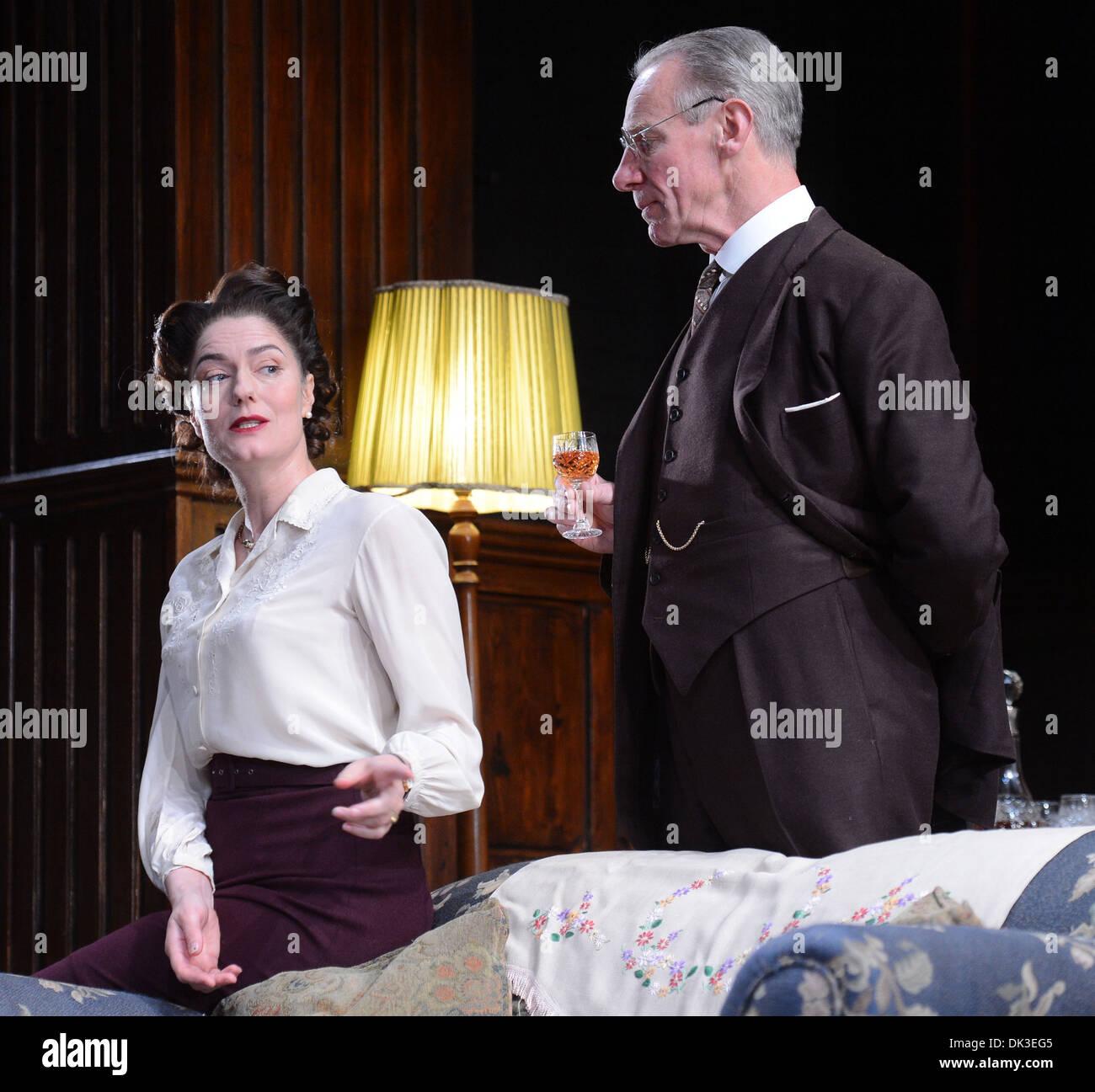 Anna Chancellor Photo call for Browning Version at Harold Pinter Theatre London England- 23.04.12 Stock Photo