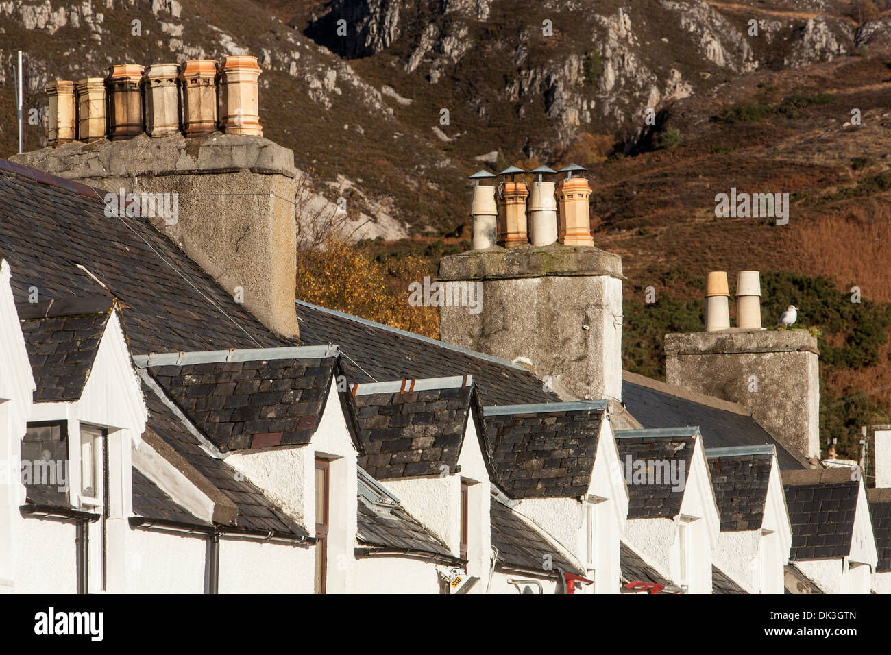 Roof Tops, Ullapool, Wester Ross, Highlands, Scotland - Stock Image