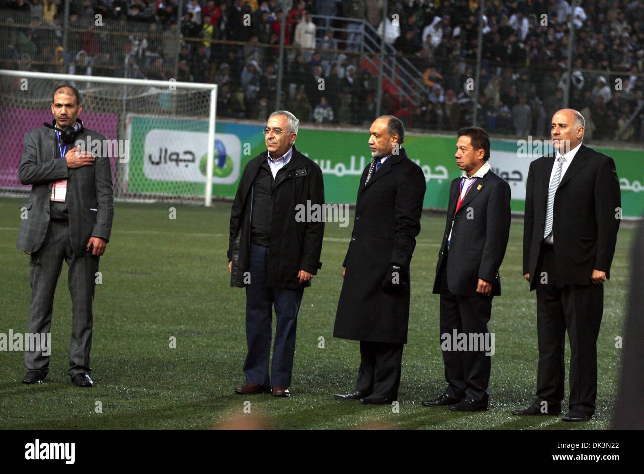 Mar 09, 2011 - Ramallah, West Bank, Palestinian Territory - Palestinian prime minister SALAM FAYYAD participate Stock Photo