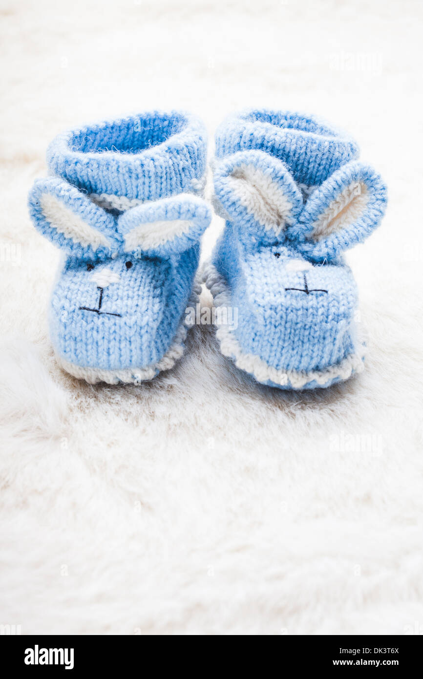 Blue Baby Booties High Resolution Stock