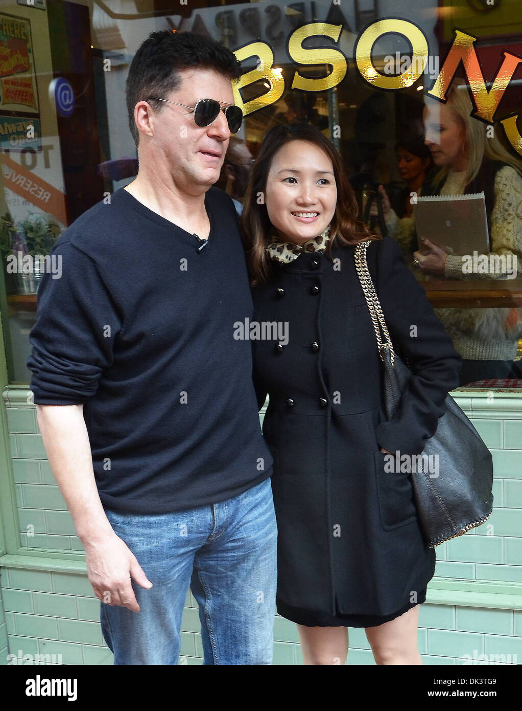 A Simon Cowell look-alike caused quite a stir on Grafton Street today while filming a skit for Craig Doyle Live Show Many - Stock Image