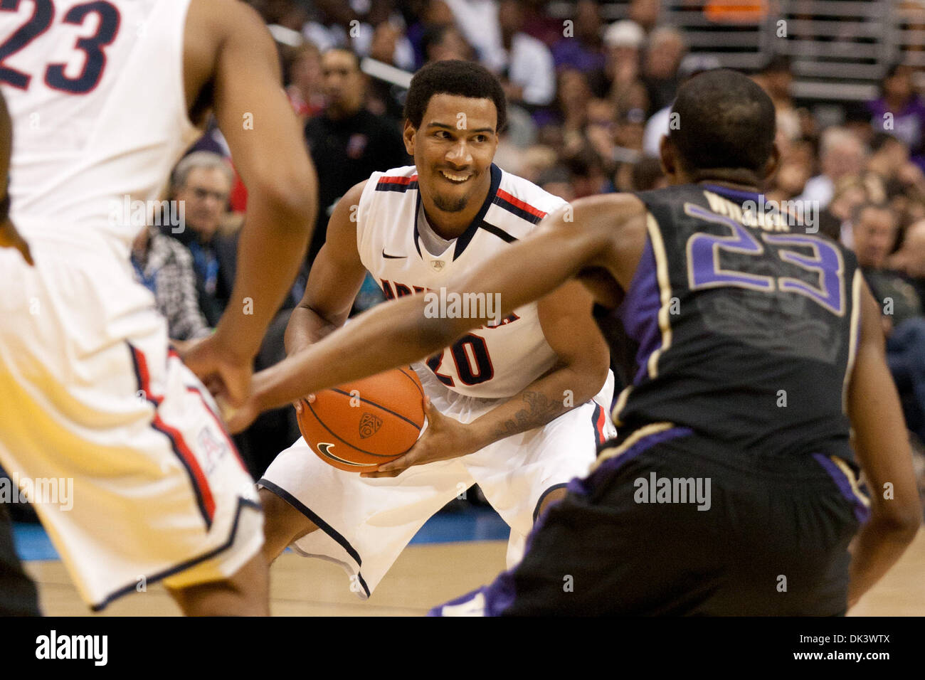 bbb494fc456 12, 2011 - Los Angeles, California, U.S - Arizona Wildcats guard Jordin  Mayes #20 in action during the NCAA Pacific Life Pac-10 Tournament  basketball ...