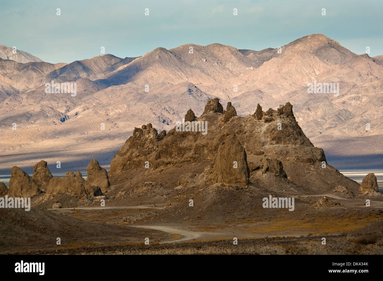 Tufa rock formations at the Trona Pinnacles, California - Stock Image