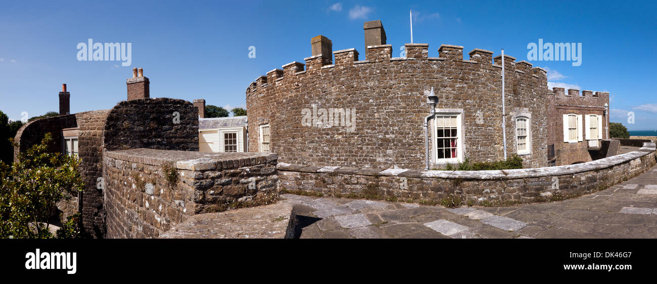 Panoramc, photostiched image of Walmer Castle, Walmer, Deal, Kent. Stock Photo