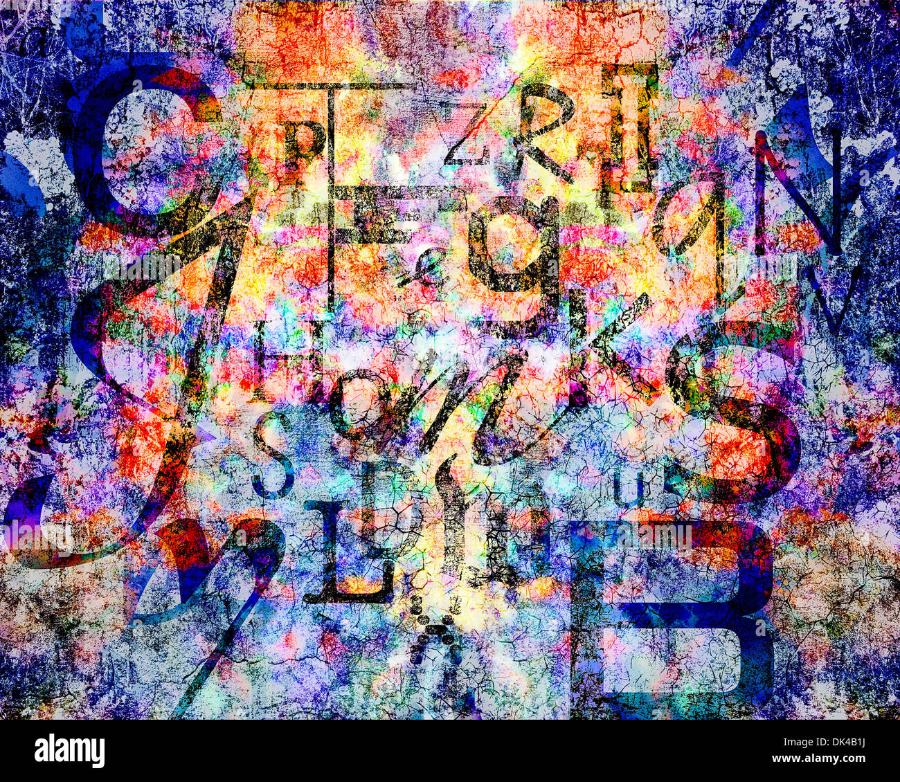 DIGITAL ART: Dyslexia Stock Photo