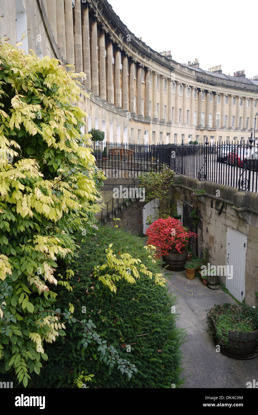 18th century Georgian Architecture of The Royal Crescent, City of Bath, Somerset, England. A UNESCO World Heritage Site Stock Photo