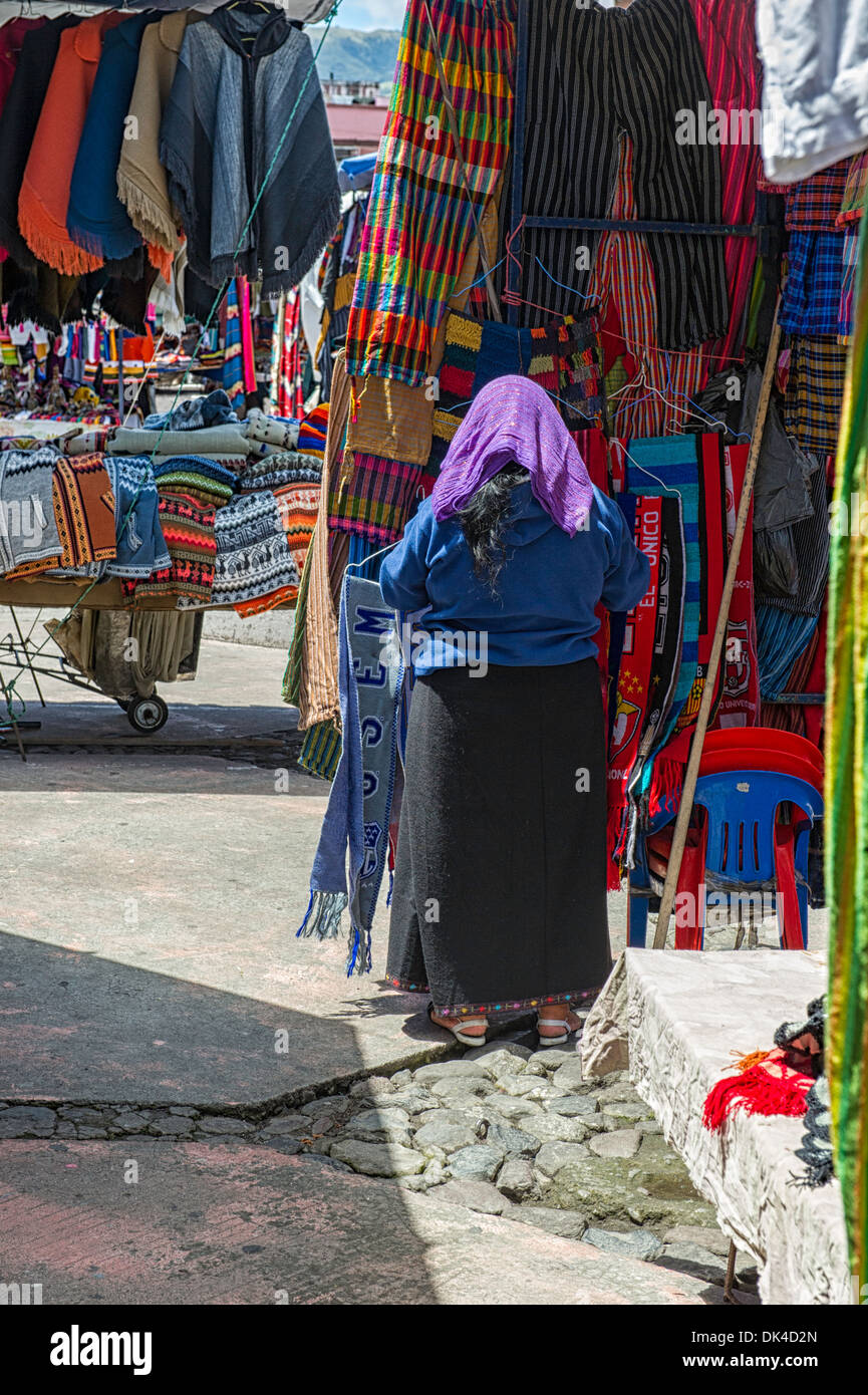 Main market in Otavalo Ecuador - Stock Image
