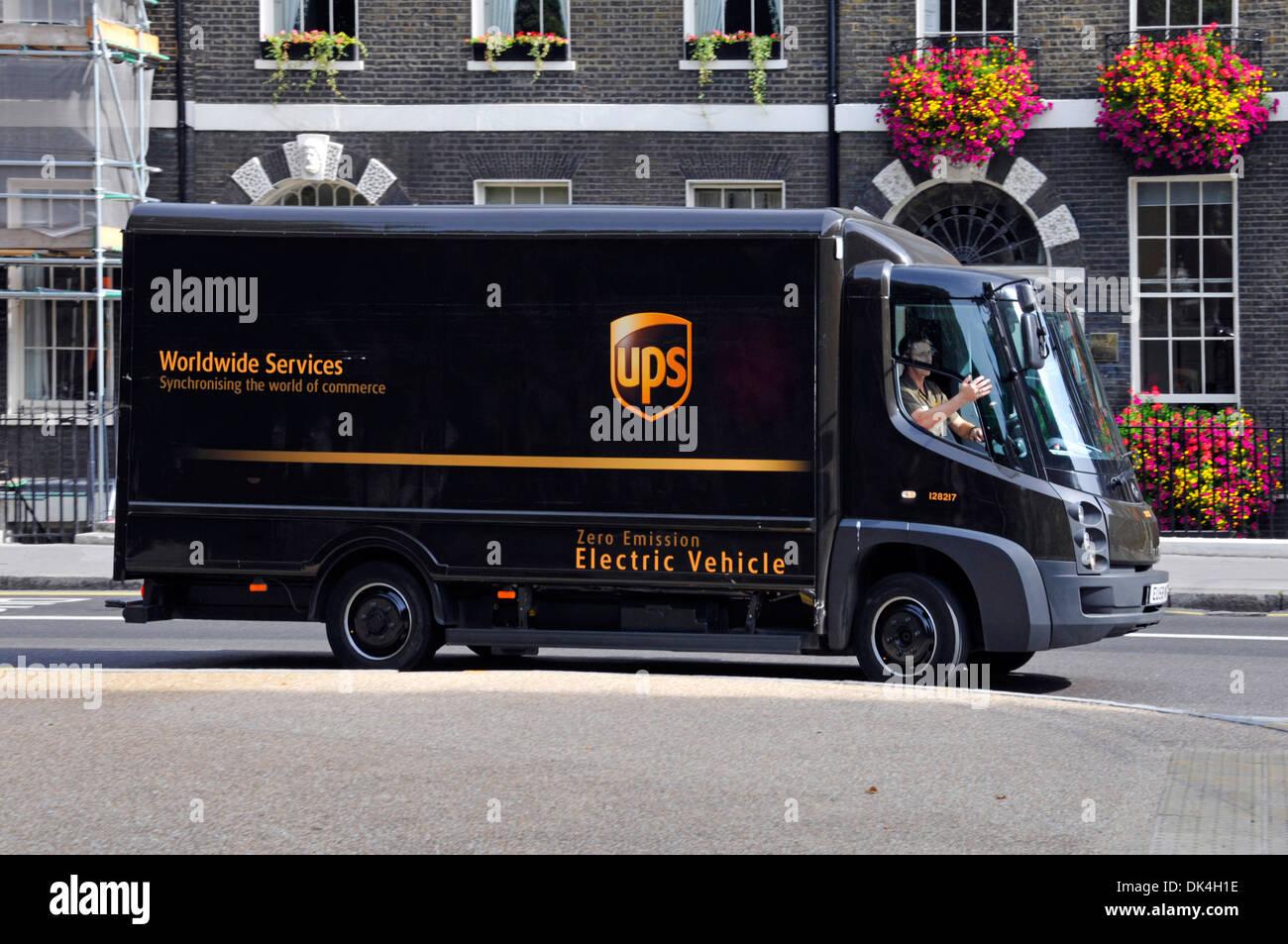 United Parcel Service van UPS zero emission electric