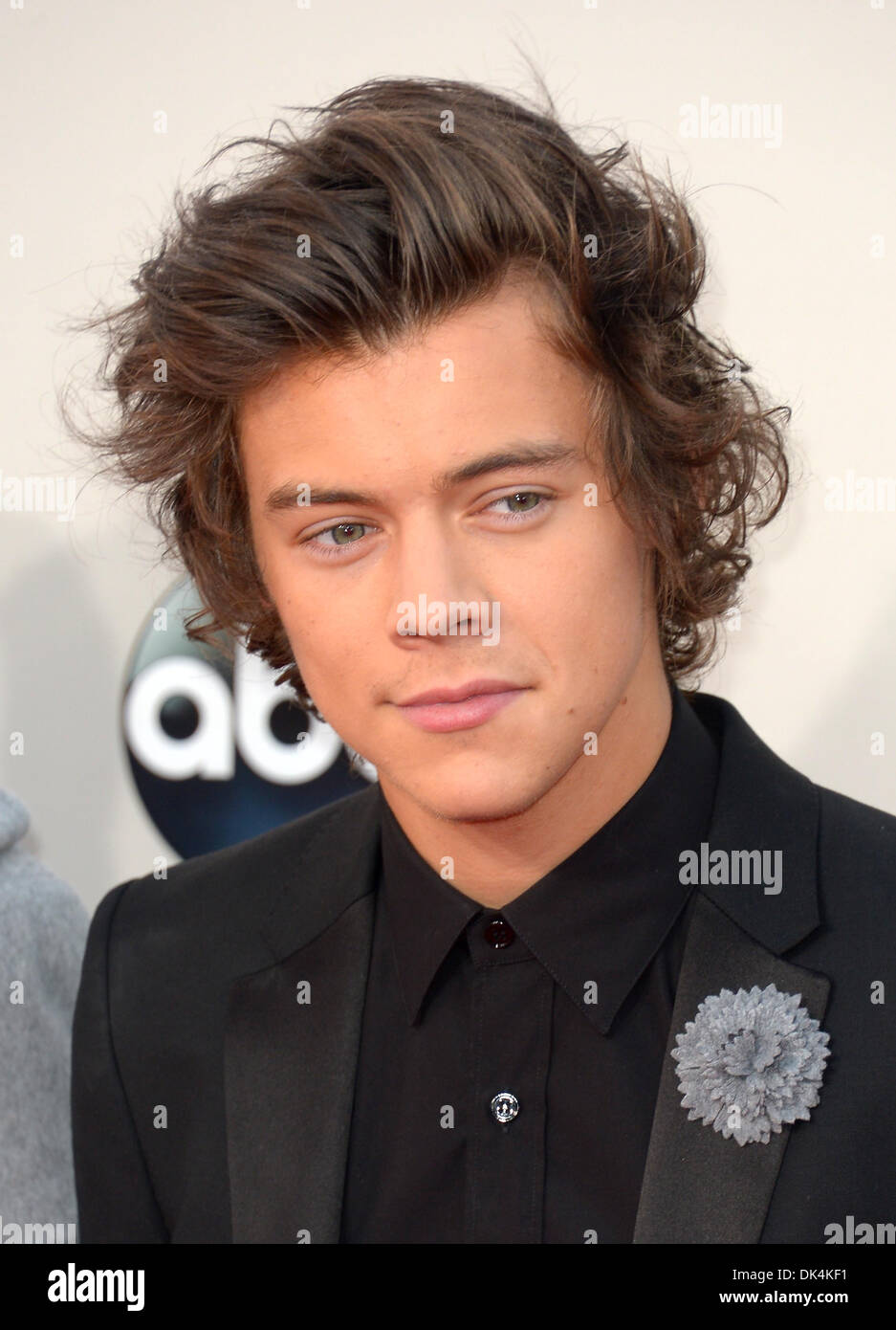 Harry Styles arrives at the American Music Awards, Los Angeles, America - 24 Nov 2013 - Stock Image