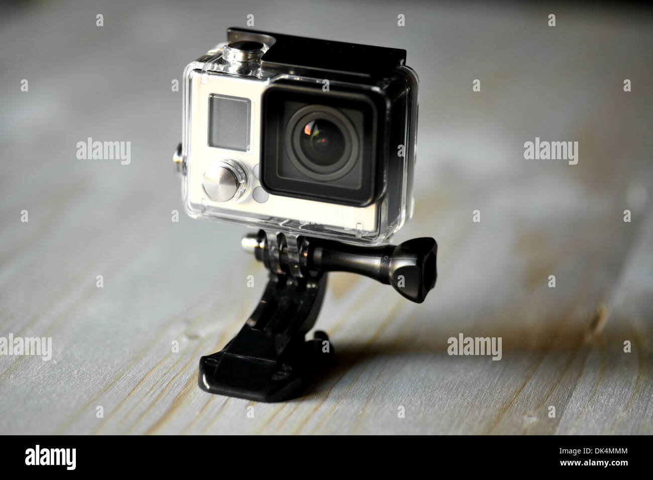 Close up color shot of a small action camera - Stock Image