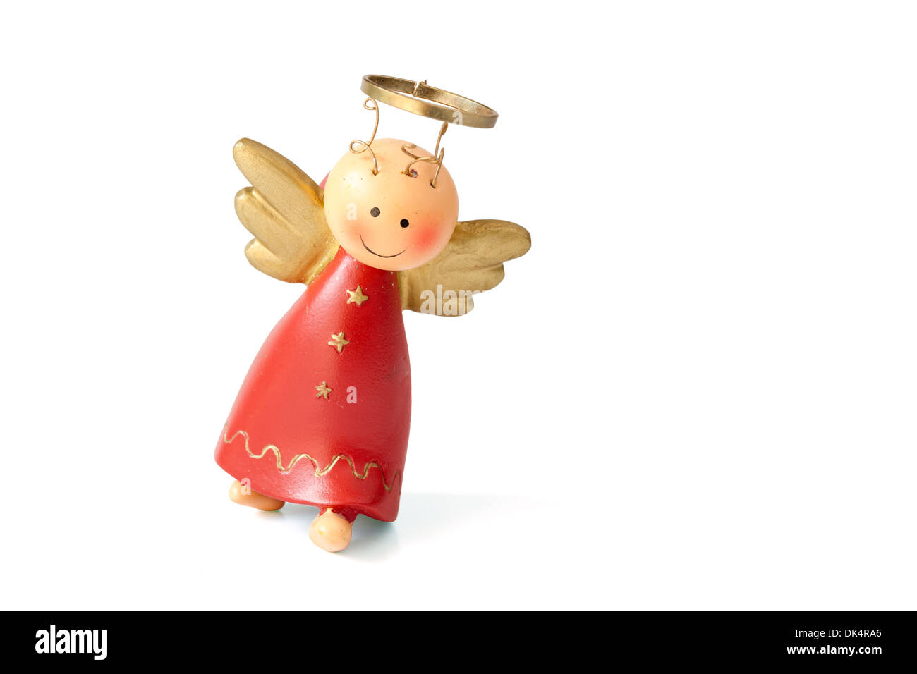 christmas angel decoration on a white background - A Christmas Angel