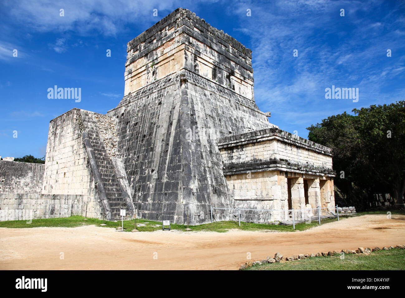 Temple of the Jaguars Chichen Itza Mayan ruins on the Yucatan peninsular Mexico North America - Stock Image