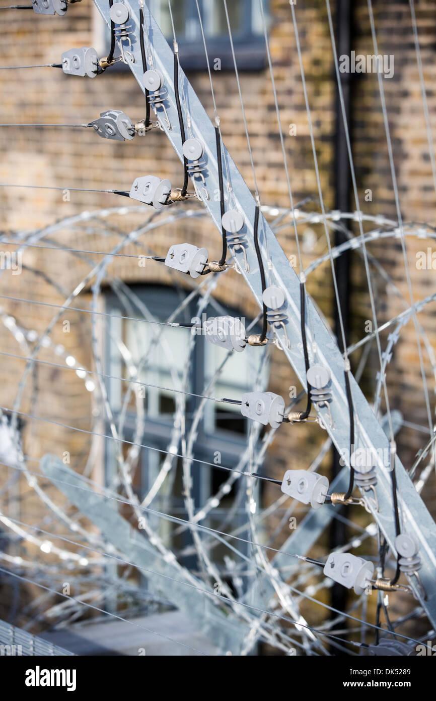 Security fence, London, United Kingdom - Stock Image