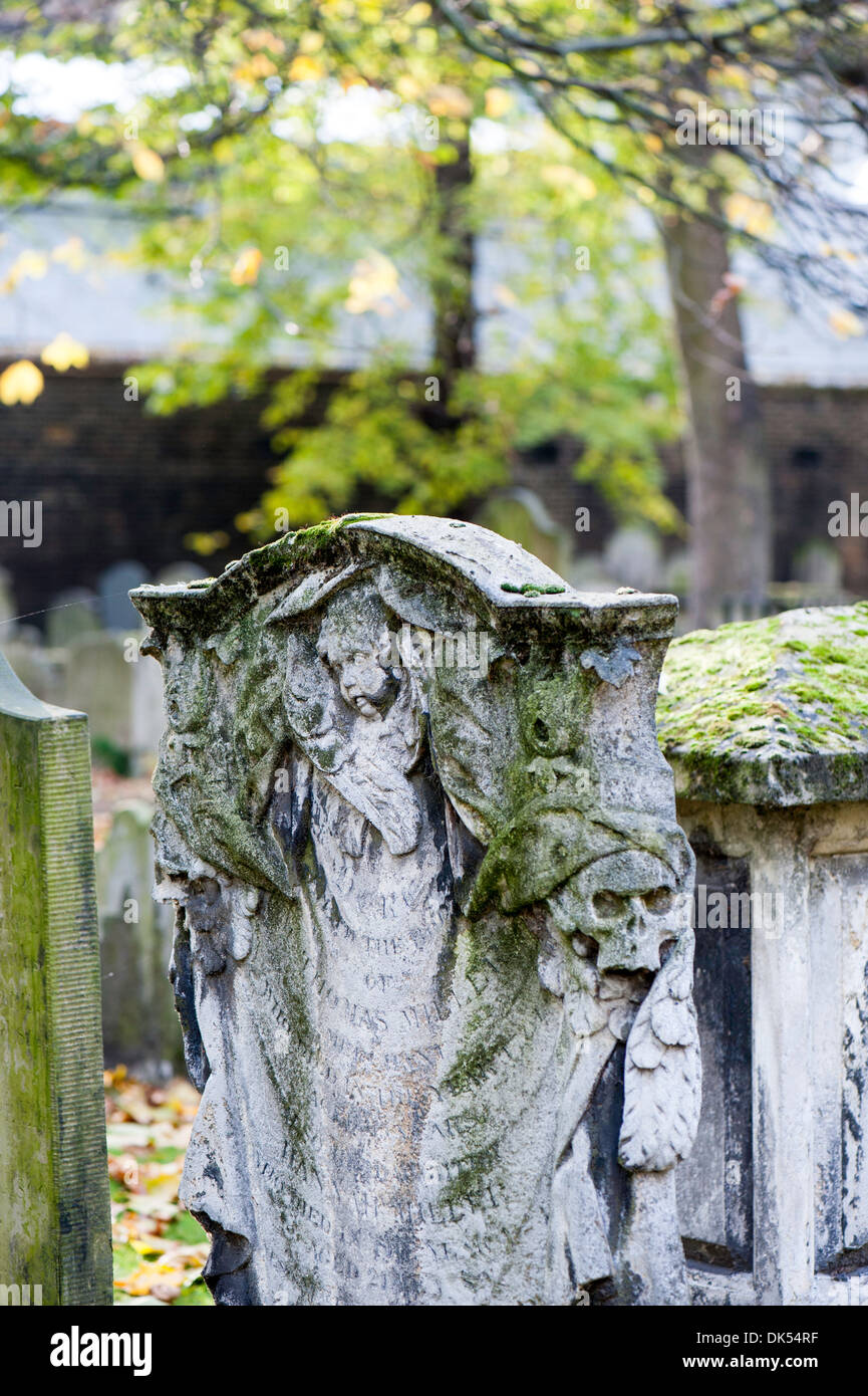 Bunhill Fields Burial Grounds, London, United Kingdom - Stock Image