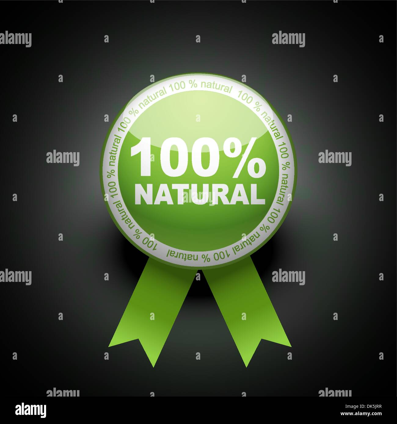Ecology web push button icon. 100 percent Stock Vector