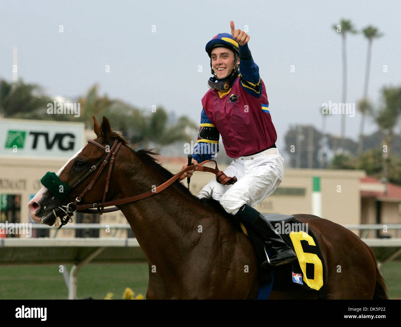 May 12, 2011 - Louisville, Kentucky, USA - FILE - MICHAEL BAZE (April 14, 1987 - May 10, 2011) was an American Thoroughbred Stock Photo