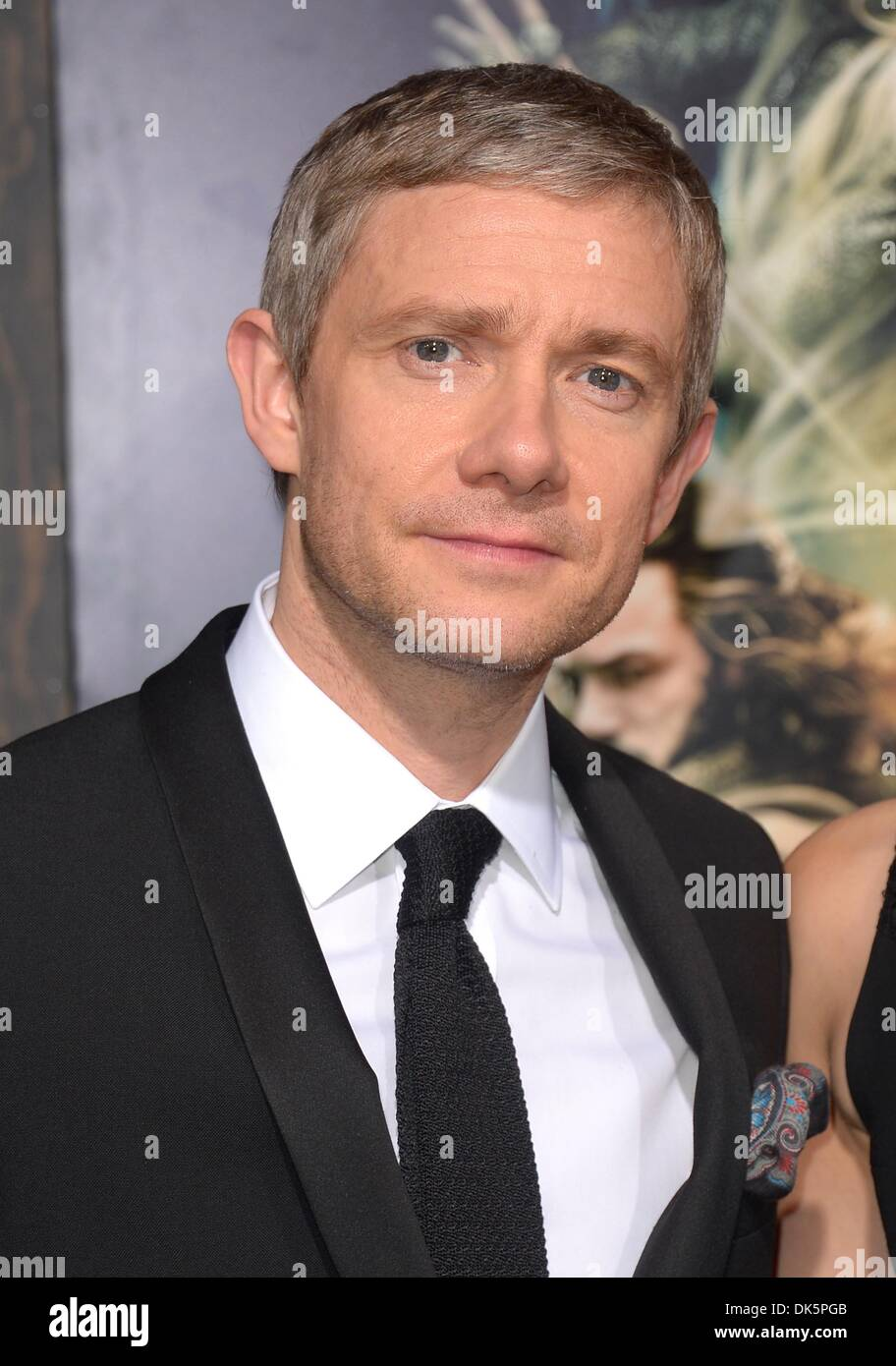 Los Angeles, USA. 2nd December 2013. Martin Freeman arrives at premiere for The Hobbit, Desolation of Smaug, Los Angeles, America - 2 Dec 2013 Credit:  Sydney Alford/Alamy Live News - Stock Image