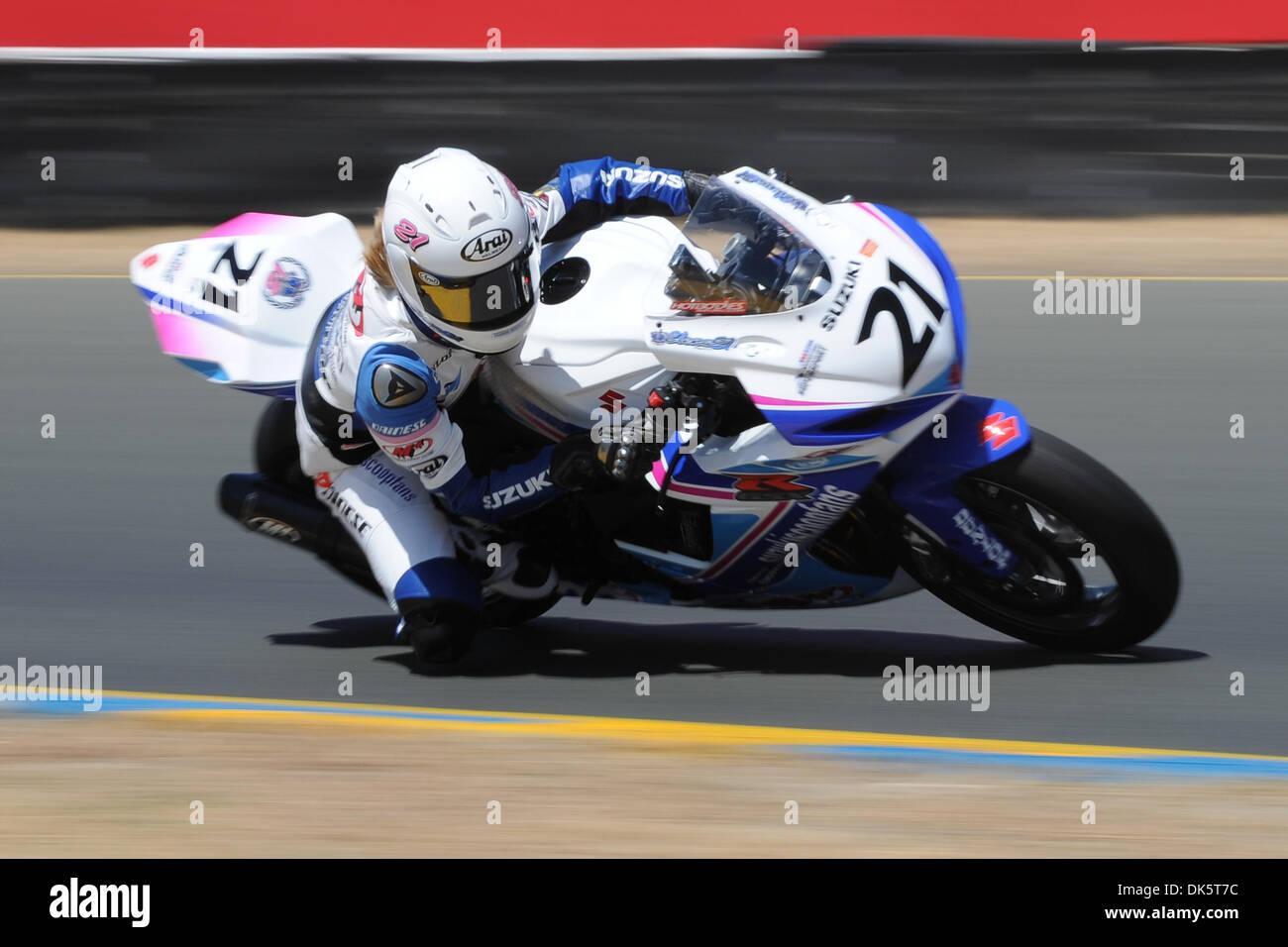 Watch Elena Myers AMA Supersport race winner video