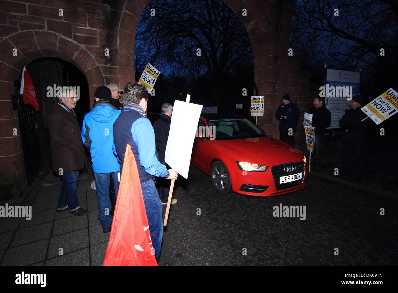 Glasgow, Scotland, UK. 3rd Dec 2013 Glasgow university, University Ave, Glasgow, Scotland, UK - Staff from UCU, - Stock Image