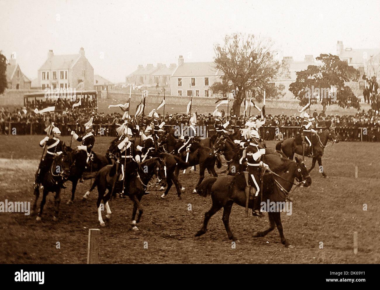 Cavalry Regiment Musical Ride in 1892 - Stock Image
