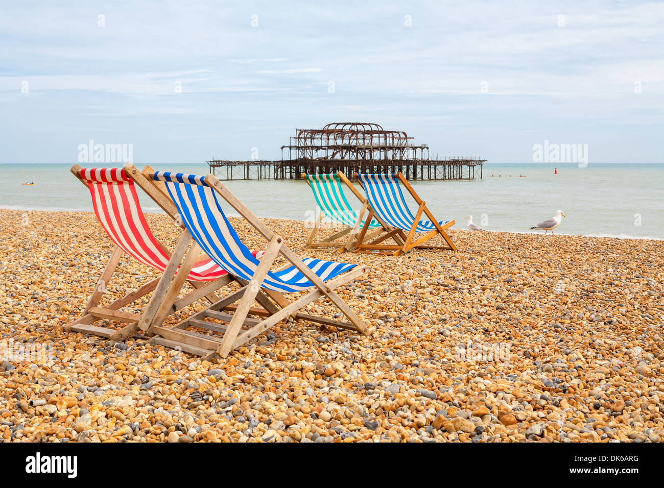 Brighton beach. Brighton, England Stock Photo
