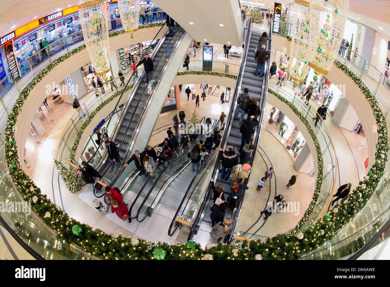Interior View Of Shopping Centre Altmarkt Galerie During Opening Stock Photo Alamy