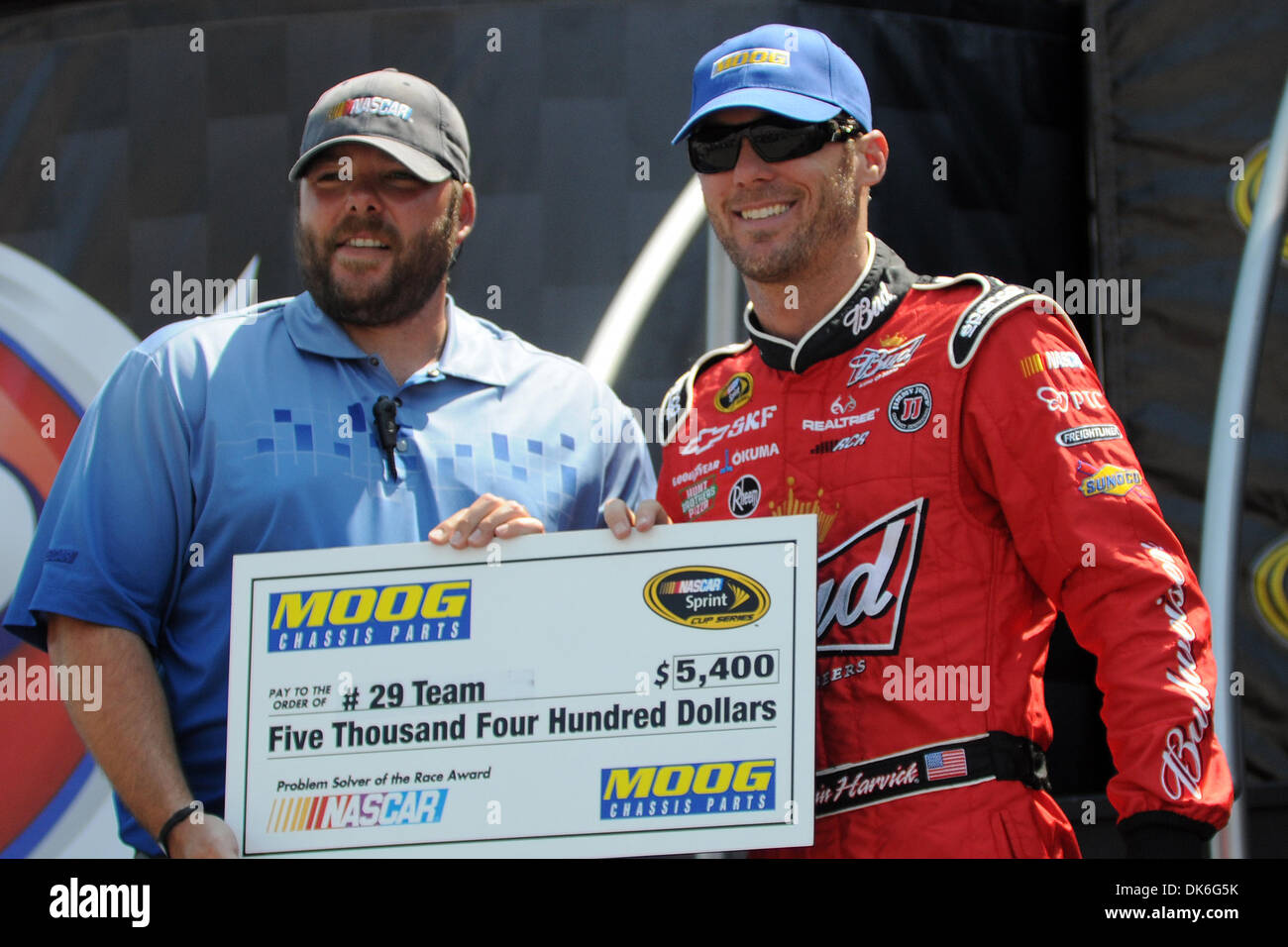 June 5, 2011 - Kansas City, Kansas, U.S - Kevin Harvick won the Moog Chassis Problem Solver of the Race Award at the STP 400 held at the Kansas Speedway. (Credit Image: © Steven Branscombe/Southcreek Global/ZUMApress.com) - Stock Image