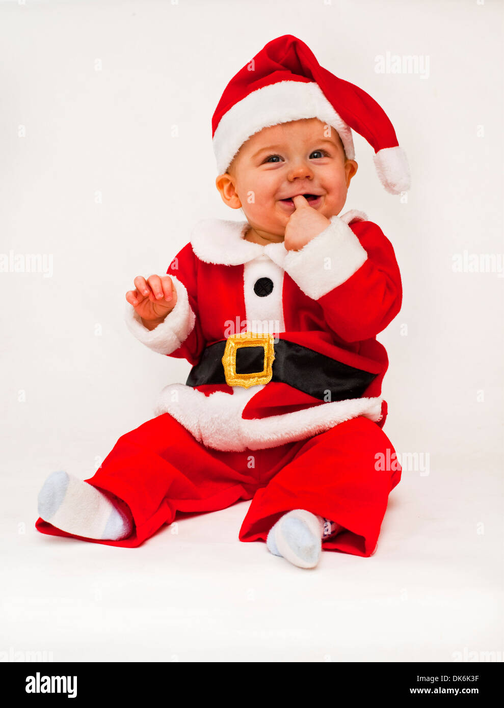 fd920715cb90 Baby Boy In Santa Outfit Ready For Christmas Sc 1 St Alamy. image number 14  of baby santa costumes ...