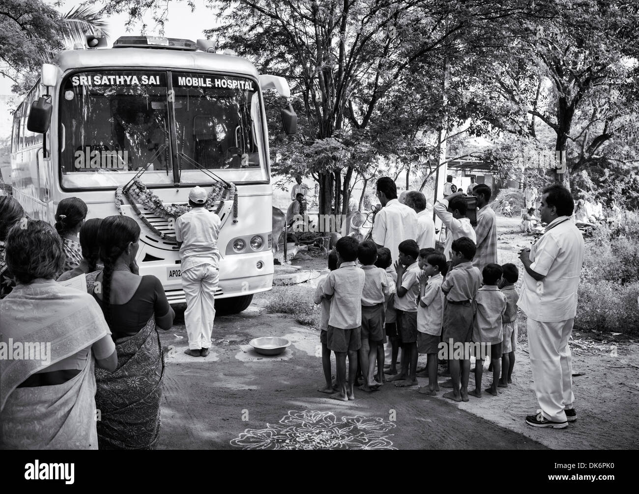 Sri Sathya Sai Baba Mobile Outreach Hospital Service Clinic Bus At A